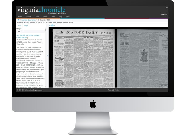 The Virginia Chronicle Digital Archive