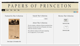 Papers of Princeton