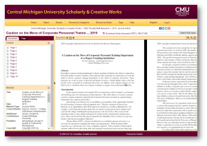 Central Michigan University Scholarly & Creative Works